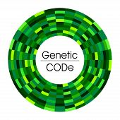 Abstract Background For  Science Medicine  Genetic Biology In Green Or For Digital Information Or Ar poster
