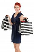Happy Shopper Showing Her Bags