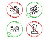 Do Or Stop. People Communication, Payment Method And Man Love Icons Simple Set. Businesswoman Person poster