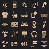 Access Icons Set. Simple Set Of 25 Access Icons For Web For Any Design poster
