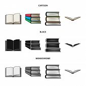 Vector Design Of Library And Textbook Icon. Collection Of Library And School Vector Icon For Stock. poster