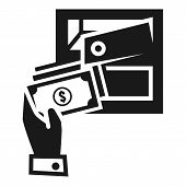 Put Money Deposit Safe Icon. Simple Illustration Of Put Money Deposit Safe Vector Icon For Web Desig poster