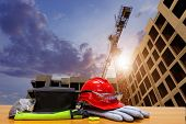 Equipment Standard Safety Construction And Construction Site Area. Business Construction. Constructi poster