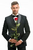 Valentines Day And Anniversary. Dating Services. How To Be Romantic. Romantic Gentleman. Man Mature  poster