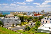 stock photo of el morro castle  - view of old san juan in puerto rico - JPG