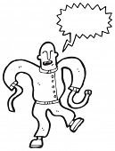 picture of lunate  - cartoon escaped lunatic in straight jacket - JPG