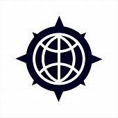 Globe Icon Isolated On White Background, Globe Icon Eps10, Globe Icon Vector, Globe Icon Eps, Globe  poster