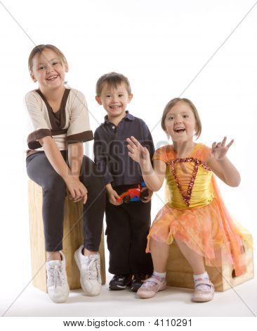Three Kids Laughing
