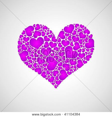 Purple Little Hearts