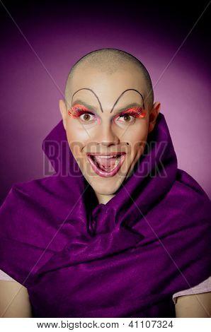 Surprised Drag Queen Portrait