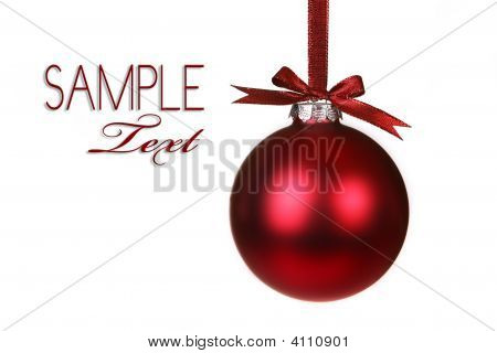 Holiday Christmas Ornament Hanging