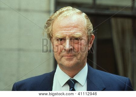 LONDON - AUGUST 15: Bill Fox, President of the Football League and Chairman of Blackburn Rovers Football Club, attends a photo call on August 15, 1989 in London. He died in December 1991.