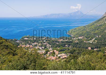 Panoramic view of Maratea. Basilicata. Southern Italy.
