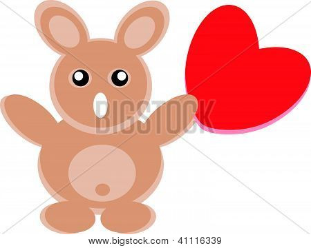 Rabbit In Love Concept