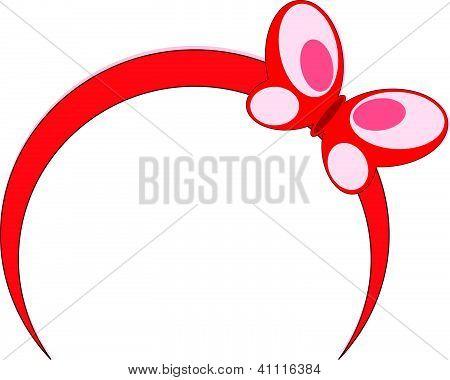 Red Headband Butterfly