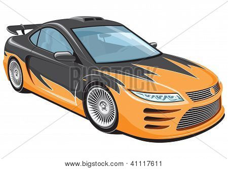Sports car - My own car design.