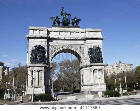 Soldiers and Sailors Monument at the Grand Army plaza