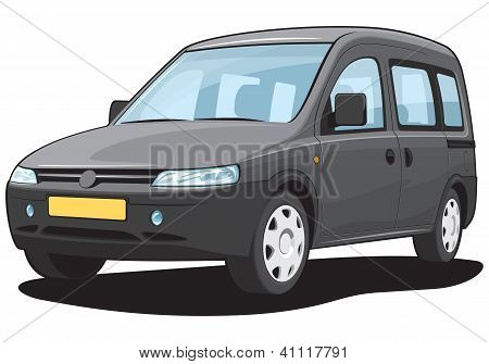 Minivan - My own car design.