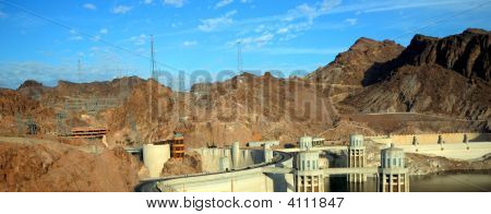 Panorama View Of A Hoover Dam
