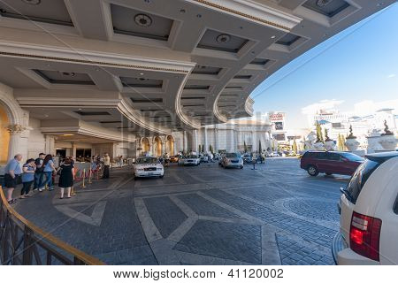 Las Vegas, Nevada - April 12, 2011: Caesars Palace Hotel Main Entrance On April 12, 2011 In Las Vega