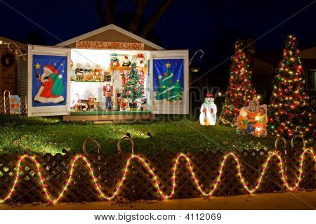 Christmas Decorated Front Yard