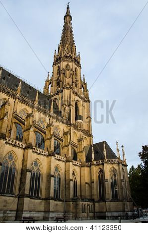 Tower of the neo-gothic Neuer Dom in Linz, Upper Austria