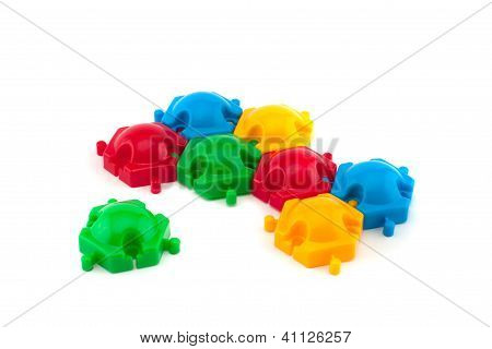 Colorful Plastic Puzzle