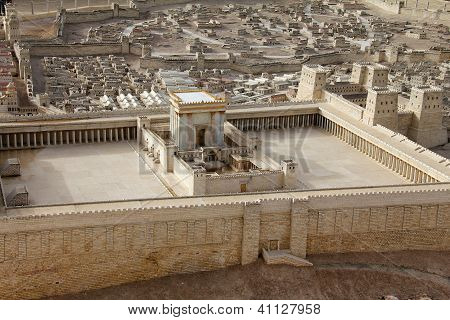 Segundo templo.  Jerusalén antiguo.