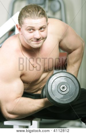 Man With Dumbbels