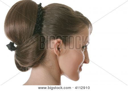Backcombed Girl Sideview