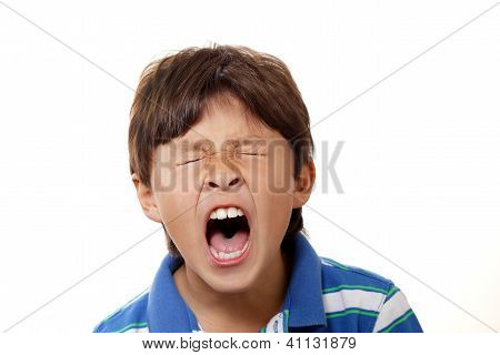 Young Boy Yawning