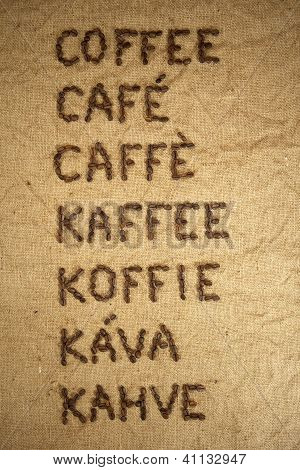 Multilingual word coffee