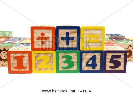 Blocks Numbers And Math Signs