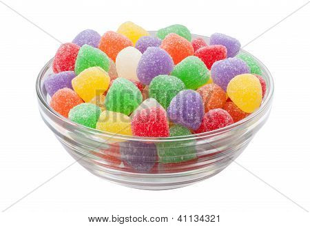 Gum Drops Isolated With Clipping Path