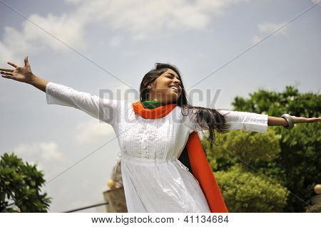 Girl Expressing Freedom