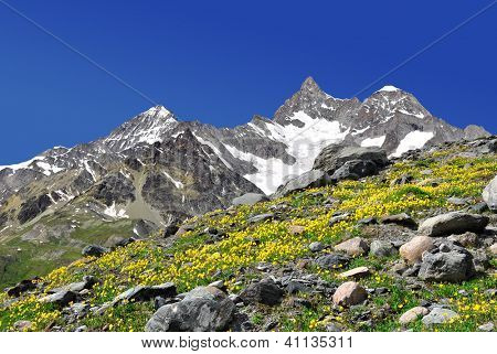 Beautiful mountain Ober Gabelhorn - Swiss alps
