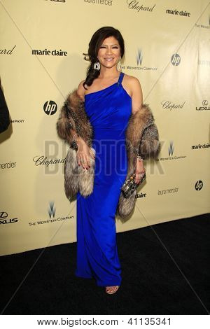 LOS ANGELES - JAN 13:  Julie Chen arrives at the 2013 Weinstein Post Golden Globe Party at Beverly Hilton Hotel on January 13, 2013 in Beverly Hills, CA..