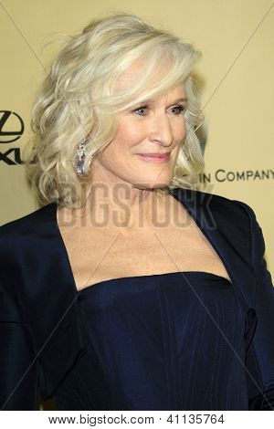 LOS ANGELES - JAN 13:  Glenn Close arrives at the 2013 Weinstein Post Golden Globe Party at Beverly Hilton Hotel on January 13, 2013 in Beverly Hills, CA..