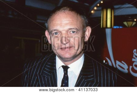 BLACKPOOL, ENGLAND - OCTOBER 10: Charles Wilson, Editor of The Times newspaper, attends the Conservative party conference on October 10, 1989 in Blackpool, Lancashire.