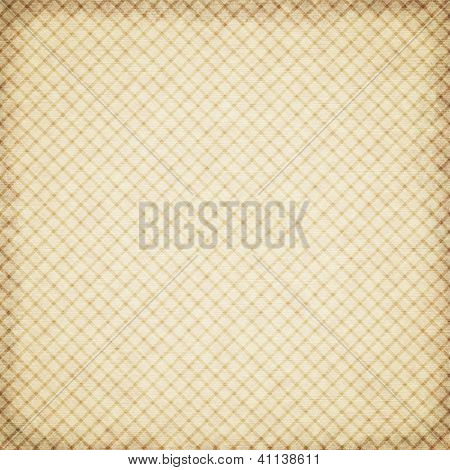 Old paper template background or texture with checked pattern