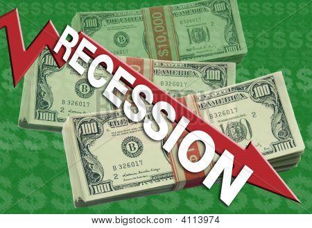 wirtschaftlichen Rezession
