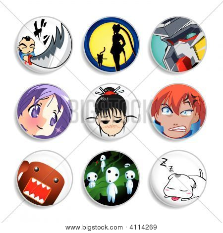 Anime Badges | Set