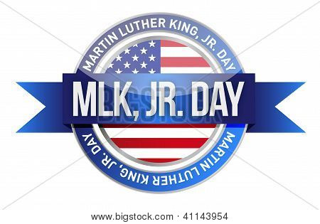Martin Luther King Jr. nos sello y bandera