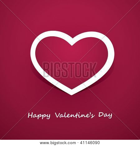Paper Heart - Valentine's Day Card