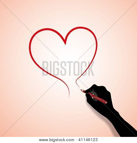 Hand-drawn Heart - Valentine's Day Concept