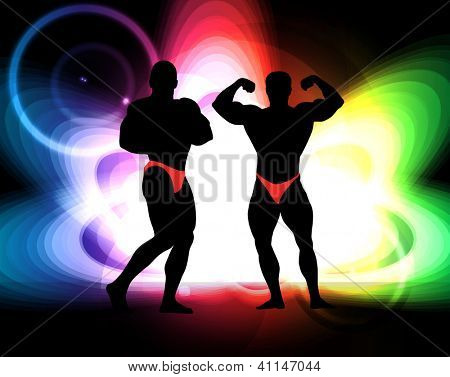 Bodybuilding. Vector illustration