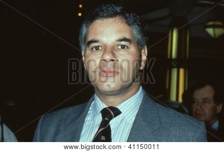 BLACKPOOL, ENGLAND - OCTOBER 10: Jonathan Sayeed, Conservative party Member of Parliament for Bristol East, attends the party conference on October 10, 1989 in Blackpool, Lancashire.
