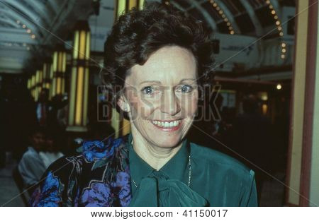 BLACKPOOL, ENGLAND - OCTOBER 10: Dame Joan Seccombe, Vice Chairman of the Conservative party, attends the party conference on October 10, 1989 in Blackpool, Lancashire.