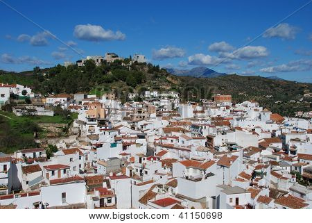 White village, Monda, Andalusia, Spain.