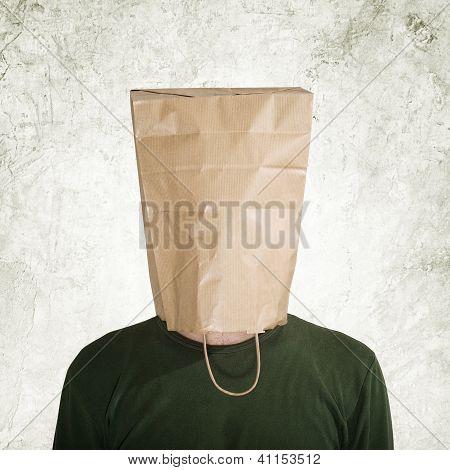 Hidden Behind Paper Bag